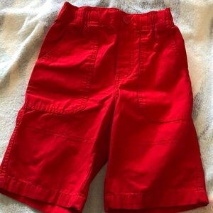 Never worn Red shorts for boys
